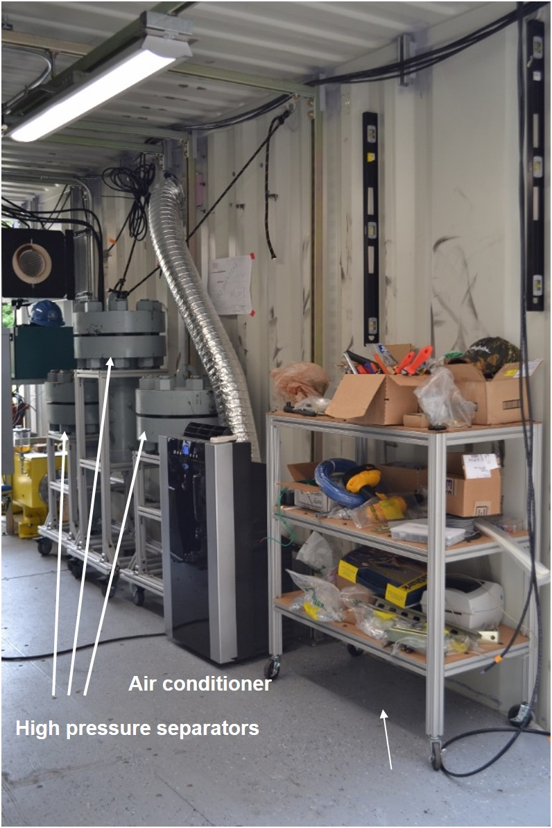 High Pressure Separators Before Installation of Heat Exchangers